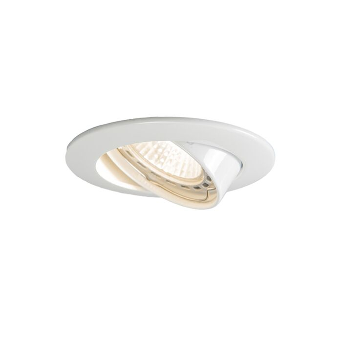 Downlight-ad-incasso-inclinabile-bianco---Edu