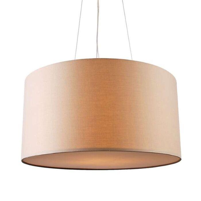 Lampada-a-sospensione-con-paralume-'Drum-60'-moderna-beige/tessuto---adatta-per-LED-/-interna