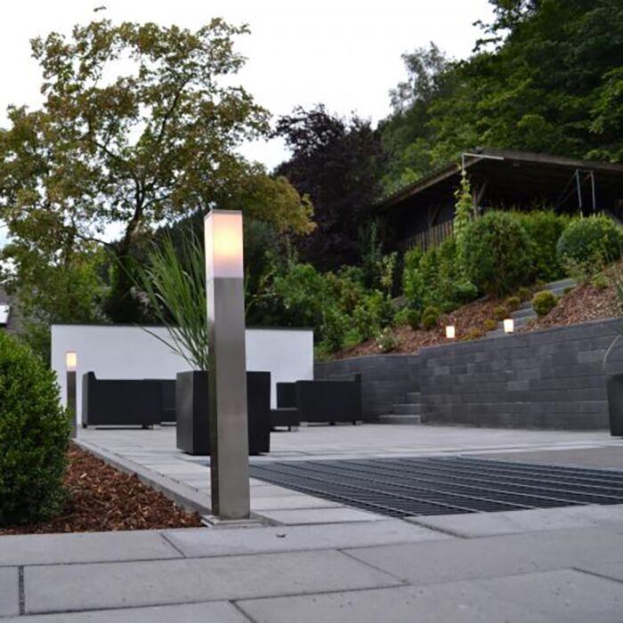 Lampada-da-esterno-moderna-in-acciaio-80-cm---Malios
