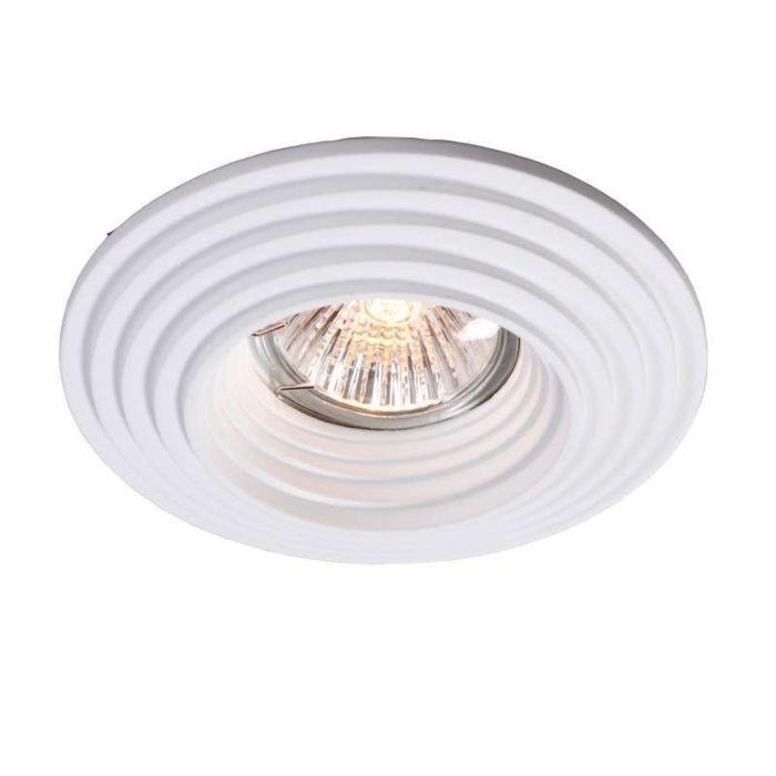 Faretto-da-incasso-'Gipsy-R-Groove'-moderno-blanco/intonaco---adatto-per-LED-/-interno