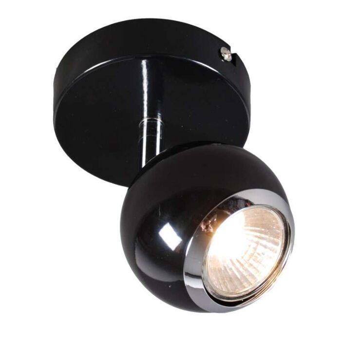 Faretto-da-soffitto/parete-'Buell-1'-retro-nero/metallo---adatto-per-LED-/-interno