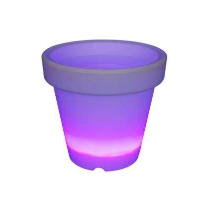 Fioriera-illuminata-'flowerpot'-moderna-trasparente/carta---include-LED-/-esterna,-interna