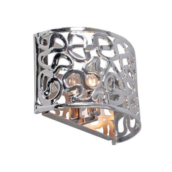 Applique-'Pharaoh-30'-moderno-cromo/plastica---adatto-per-LED-/-interno