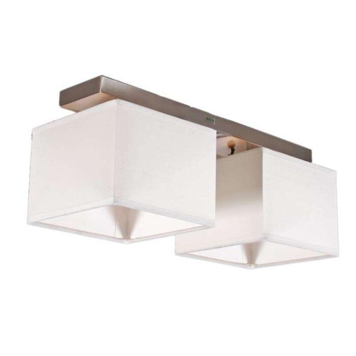 Lampada-a-sospensione-con-paralume-'VT-2'-moderna-blanca/tessuto---adatta-per-LED-/-interna