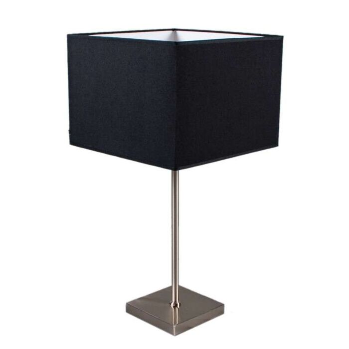 Lampada-da-tavolo-con-regolatore-'VT-Large'-moderna-nera/tessuto---adatta-per-LED-/-interna