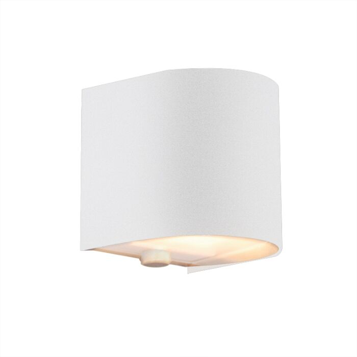 Applique-'Torci'-design-blanco/metallo---adatto-per-LED-/-interno
