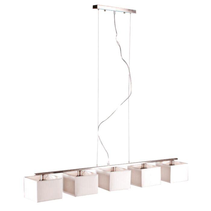 Lampada-a-sospensione-con-paralume-'VT-5'-moderna-blanca/tessuto---adatta-per-LED-/-interna