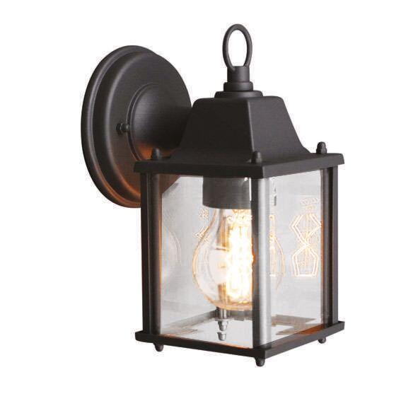 Applique-'Nevada'-rustico-carbone/metallo---adatto-per-LED-/-esterno