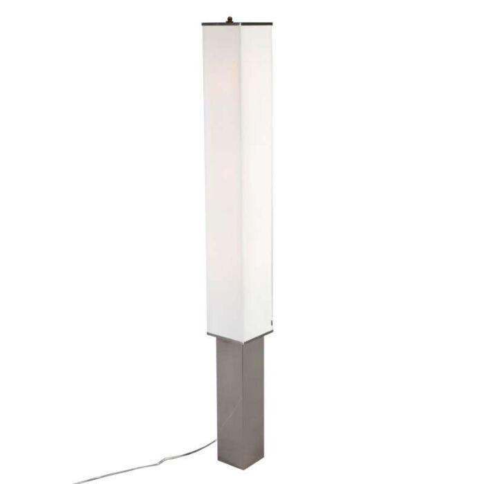 Lampada-da-terra-'VT-Long'-moderna-blanca/tessuto---adatta-per-LED-/-interna