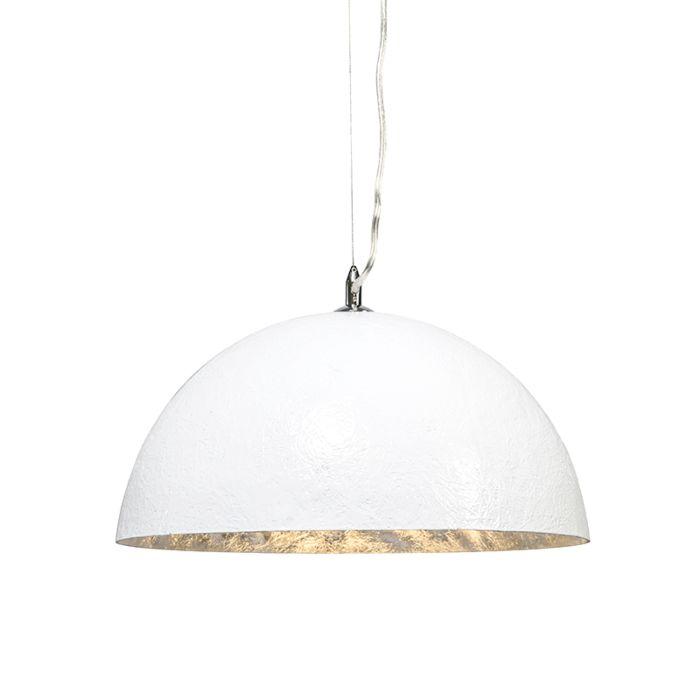 Lampada-a-sospensione-'Magna-40'-moderna-blanca/plastica---adatta-per-LED-/-interna