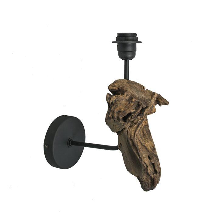Applique-'Suchin'-rustico-caffè/legno---adatto-per-LED-/-interno