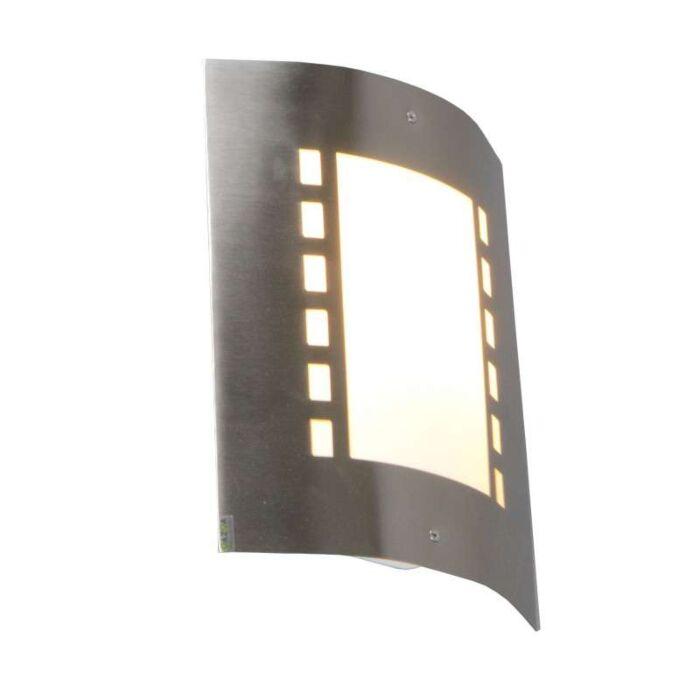 Applique-'Emmerald'-moderno-acciaio-inossidabile---adatto-per-LED-/-esterno