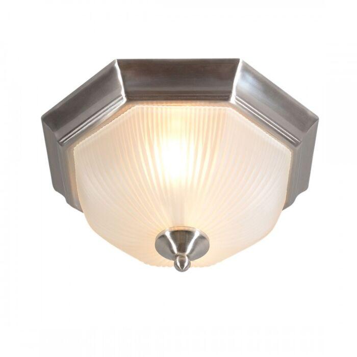 Plafoniera-'Gerlos-33'-classico-acciaio---adatta-per-LED-/-interna