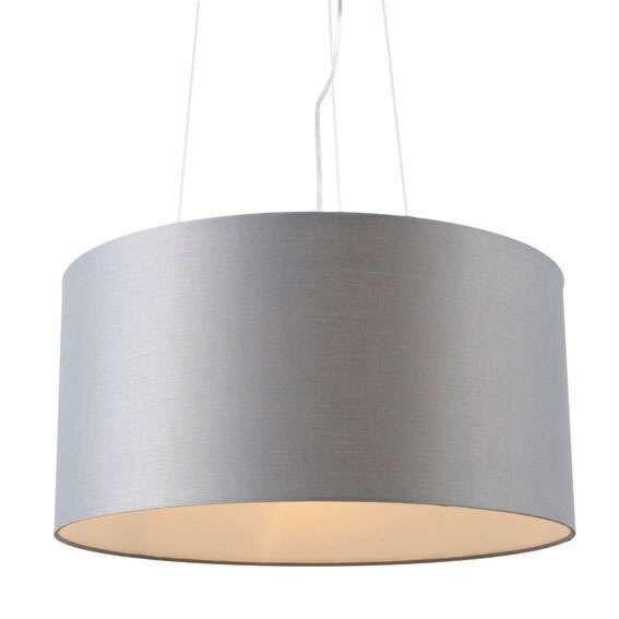 Lampada-a-sospensione-con-paralume-'Drum-60'-moderna-grigia/tessuto---adatta-per-LED-/-interna