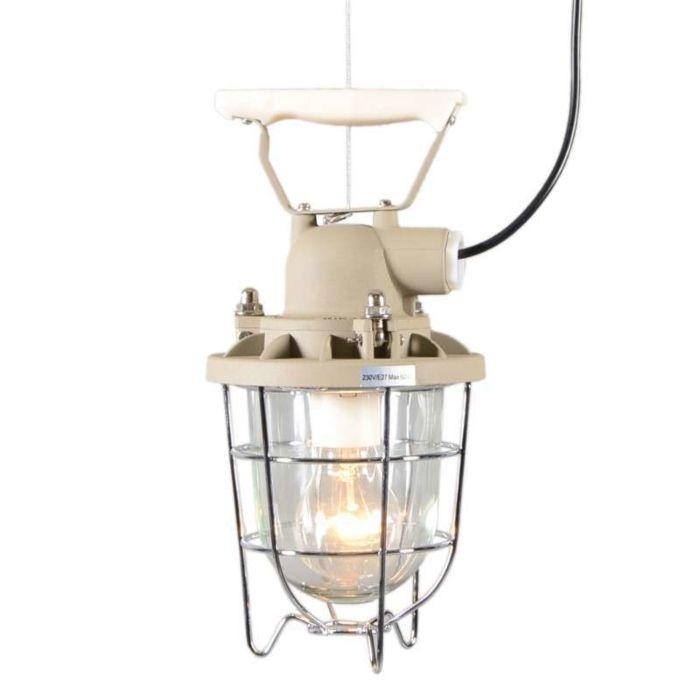 Lampada-a-sospensione-'Stork-I'-retro-beige/alluminio---adatta-per-LED-/-interna