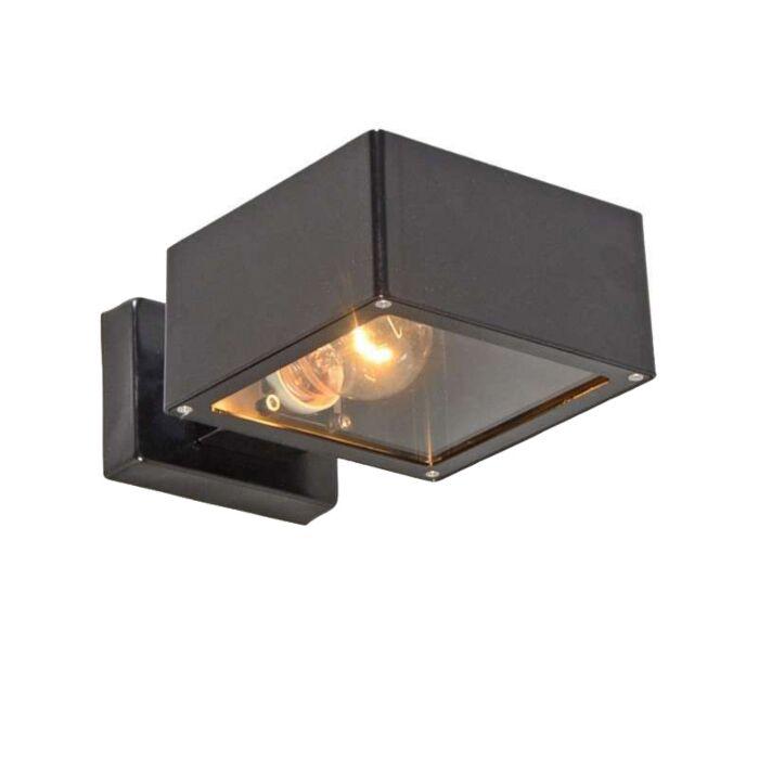 Applique-'Bussum-II'-moderno-nero/acciaio-inossidabile---adatto-per-LED-/-esterno,-interno