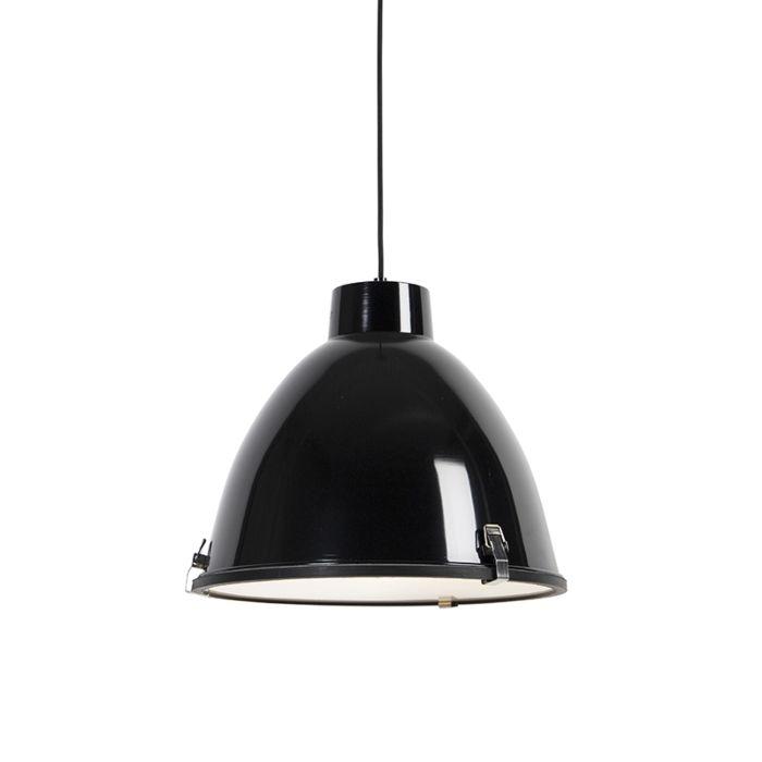 Lampada-a-sospensione-industriale-nera-38-cm-dimmerabile---Anteros