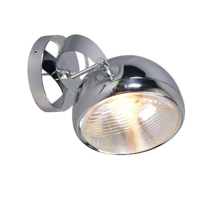 Faretto-da-soffitto/parete-'Farol-1'-retro-cromo---adatto-per-LED-/-interno