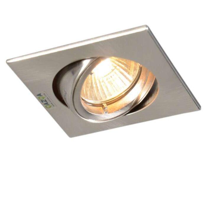 Faretto-da-incasso-'Safe-Q'-moderno-acciaio---adatto-per-LED-/-interno