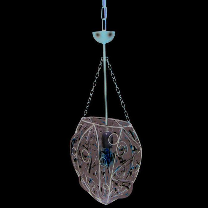 Lampada-a-sospensione-'Venezia-Un'-classico-marrone-ossido/vetro---adatta-per-LED-/-interna