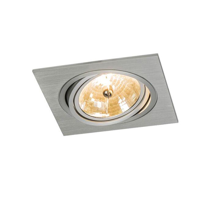 Faretto-da-incasso-grande-'Impact-Q'-moderno-alluminio---adatto-per-LED-/-interno