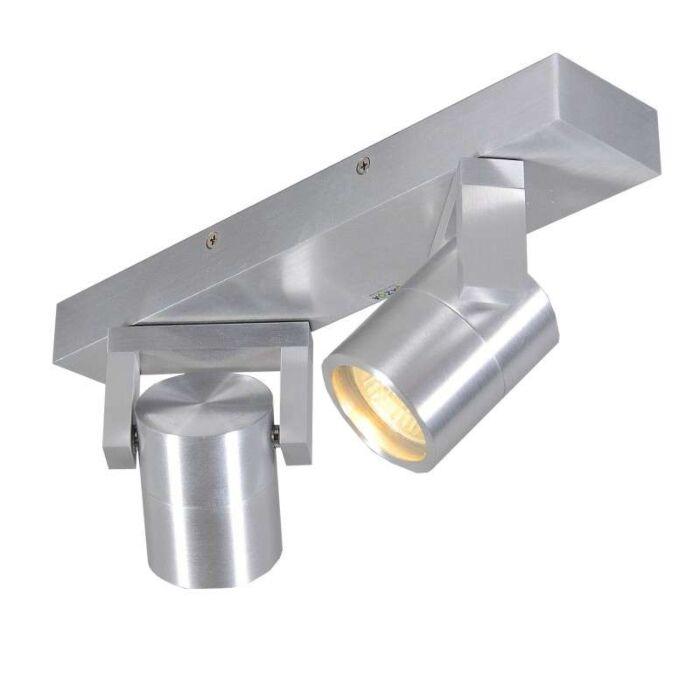 Faretto-'Move-II'-moderno-alluminio---adatto-per-LED-/-interno