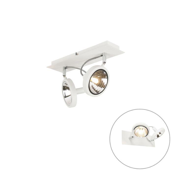 Design-spot-bianco-2-luci-orientabile---Nox