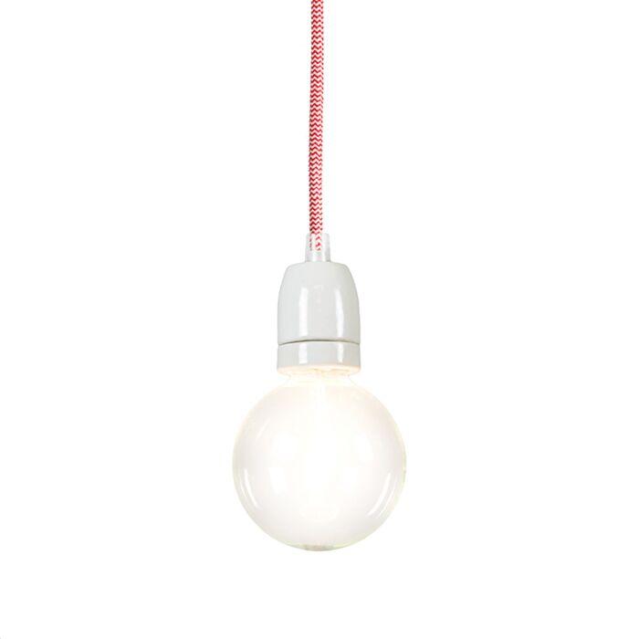 Lampada-a-sospensione-minimalista-'Cavo'-moderna-rossa/tessuto---adatta-per-LED-/-interna