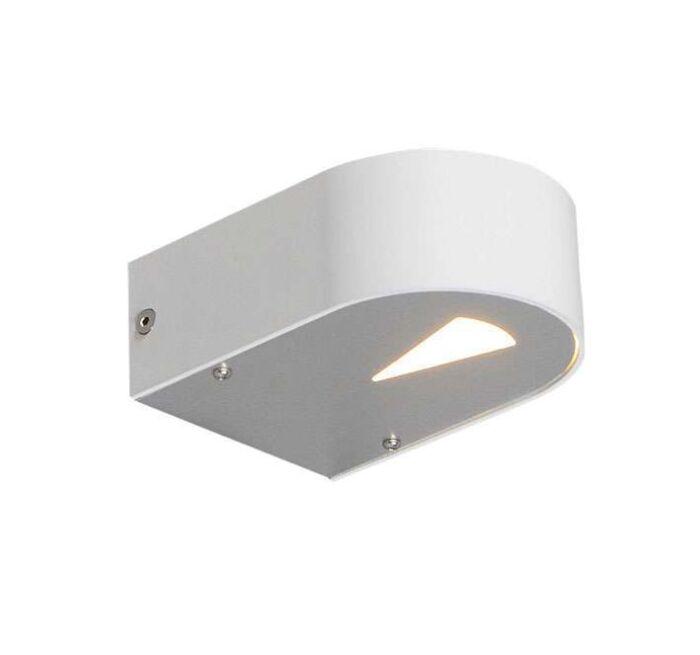 Applique-'Hide-R'-design-blanco/alluminio---adatto-per-LED-/-interno