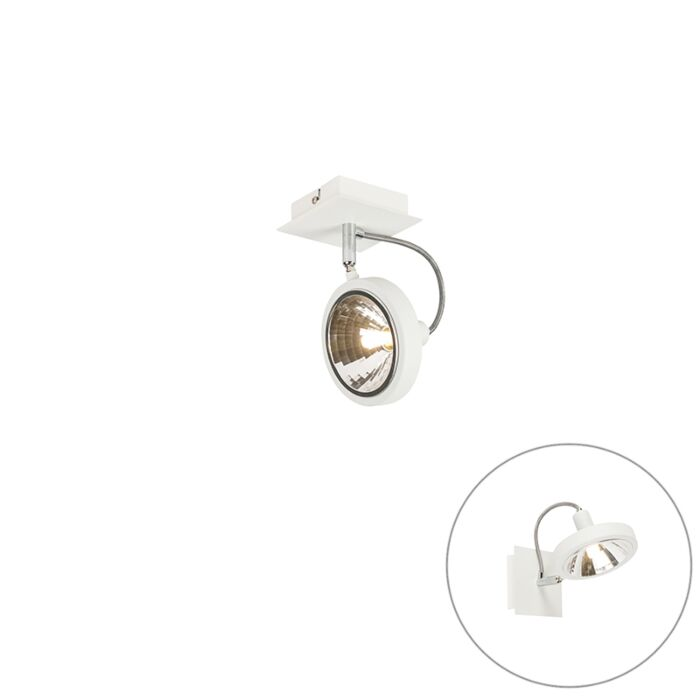 Design-spot-bianco-1-luce-regolabile---Nox