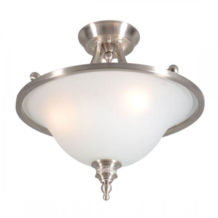 Plafoniera-'Elegance-Delux-I'-classico-acciaio---adatta-per-LED-/-interna