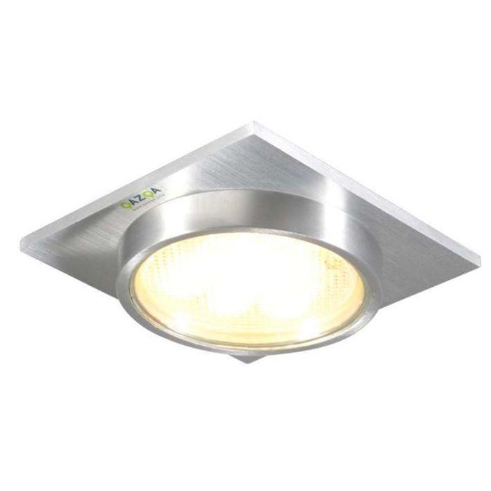 Faretto-da-incasso-'Topaz-Q'-moderno-alluminio---adatto-per-LED-/-esterno,-interno,-bagno