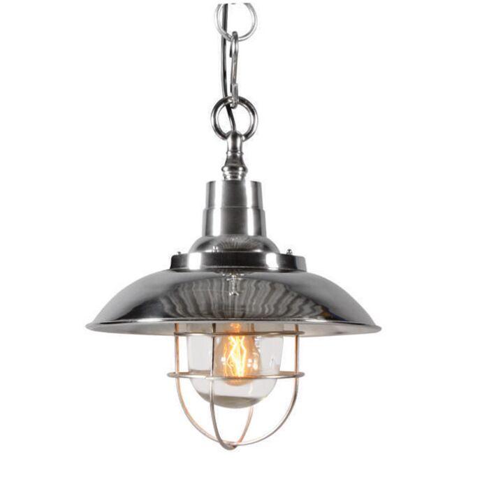 Lampada-a-sospensione-stile-nautico-'Odeon'-rustica-cromo/nickel---adatta-per-LED-/-interna