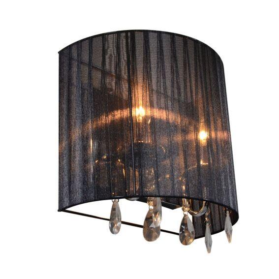 Lampada-da-parete-classica-cromata-con-paralume-nero---Ann-Kathrin-2