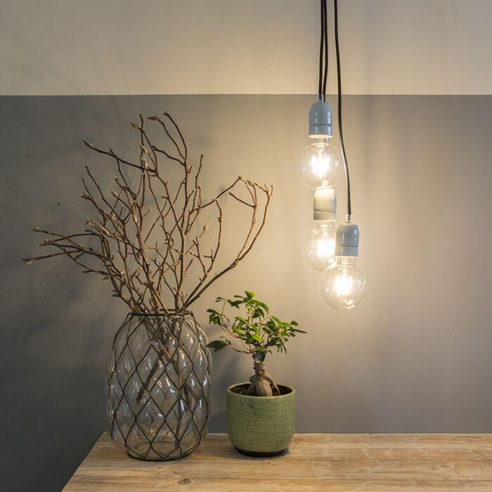 Lampada-a-sospensione-minimalista-'Cavo'-moderna-viola/tessuto---adatta-per-LED-/-interna