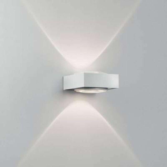 Applique-'Vision'-design-blanco/metallo---adatto-per-LED-/-interno