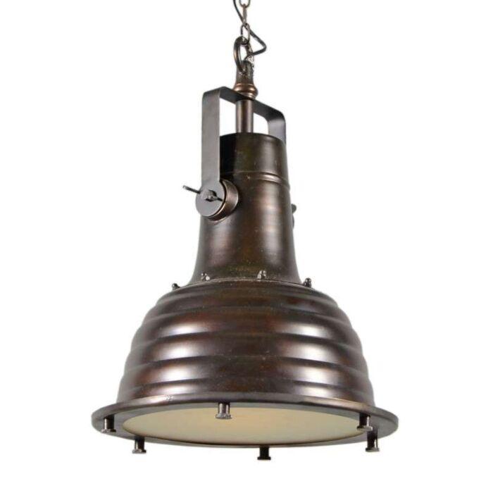 Lampada-a-sospensione-'Kiran'-industriale-bronzo---adatta-per-LED-/-interna