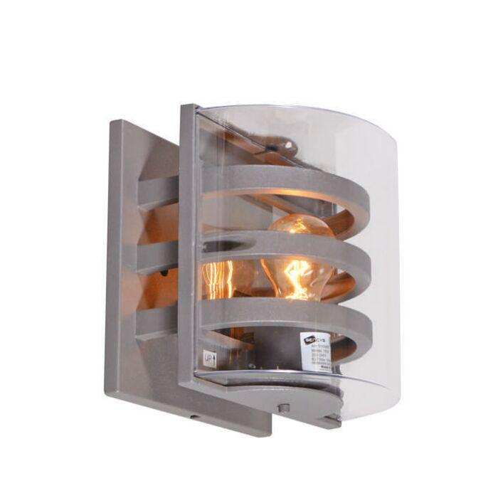 Applique-'Villache'-moderno-carbone/alluminio---adatto-per-LED-/-esterno