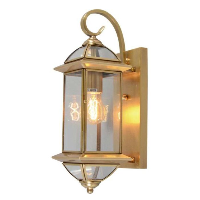 Applique-'Piperhill'-classico-bronzo/vetro---adatto-per-LED-/-interno