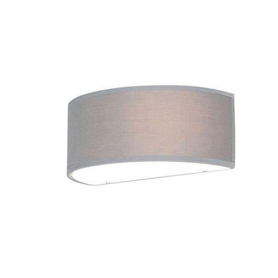 Lampada-da-parete-semicircolare-grigia---Tamburo
