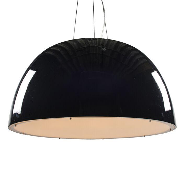 Lampada-a-sospensione-grande-'Glossy-100'-design-nera/plastica---adatta-per-LED-/-interna