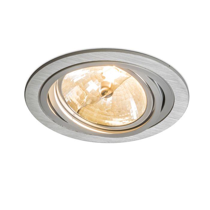 Faretto-da-incasso-grande-'Impact-R'-moderno-alluminio---adatto-per-LED-/-interno