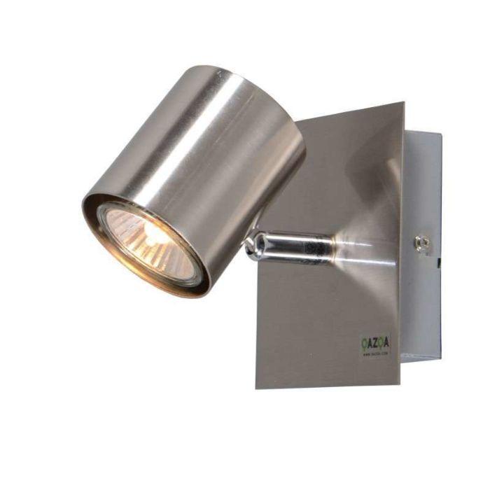 Faretto-da-soffitto/parete-'Attractive-1'-moderno-acciaio---adatto-per-LED-/-interno