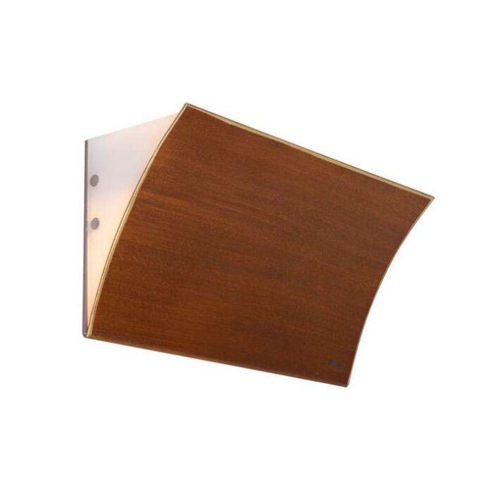 Applique-'Book-II'-classico-caffè/metallo---adatto-per-LED-/-interno