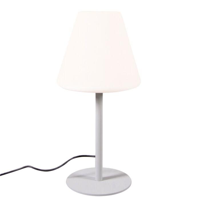 Lampada-da-tavolo-'Virginia'-moderna-grigia/alluminio---adatta-per-LED-/-esterna,-interna
