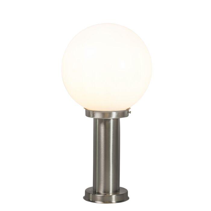 Lampada-da-esterno-moderna-palo-acciaio-inox-50-cm---Sfera