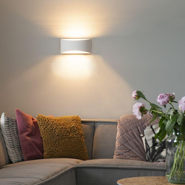 Lampada-da-parete-moderna-in-gesso-30-cm---Gipsy-Creil