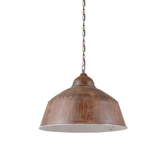 Lampada-a-sospensione-'Barun'-industriale-marrone-ossido/metallo---adatta-per-LED-/-interna