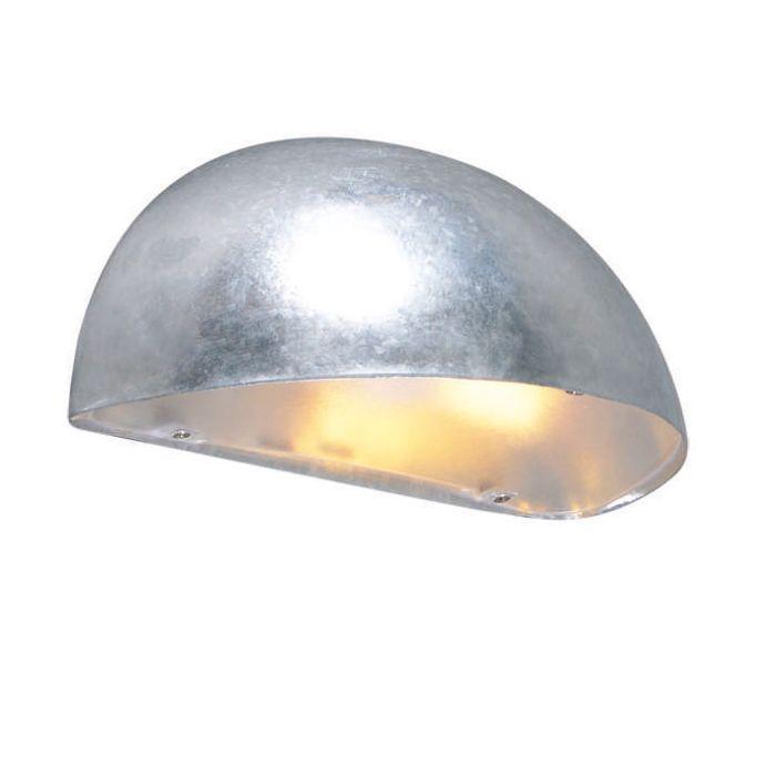 Applique-'Frankfurt'-moderno-grigio/zinco---adatto-per-LED-/-esterno