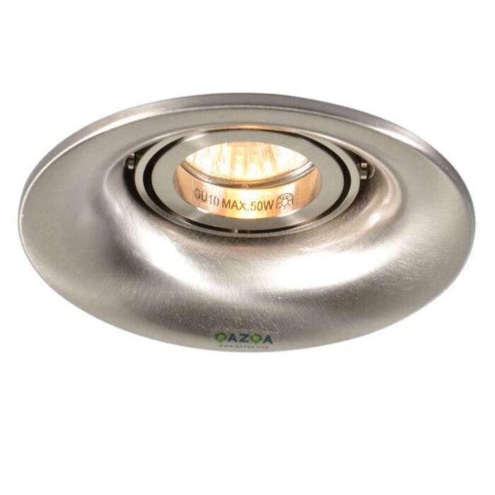 Faretto-da-incasso-'Punch'-moderno-acciaio---adatto-per-LED-/-interno